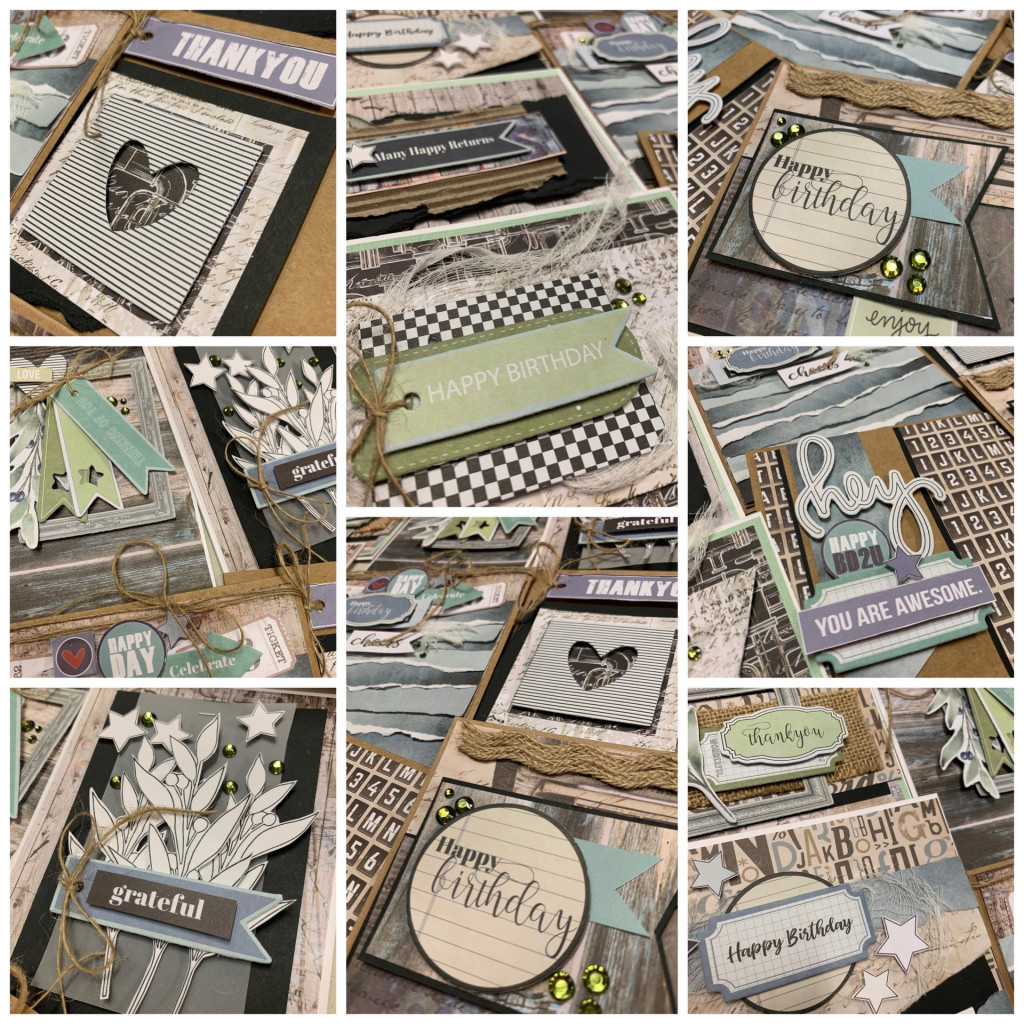 Grid collage of ten handmade cards featuring Country Roads Collection